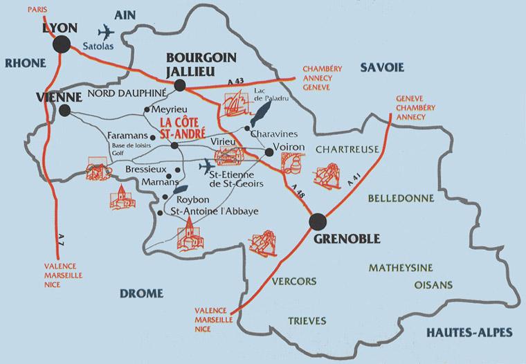 The Hector Berlioz Website La C Te Saint Andr Maps 2