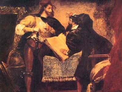 Méphistophélès apparaissant à Faust